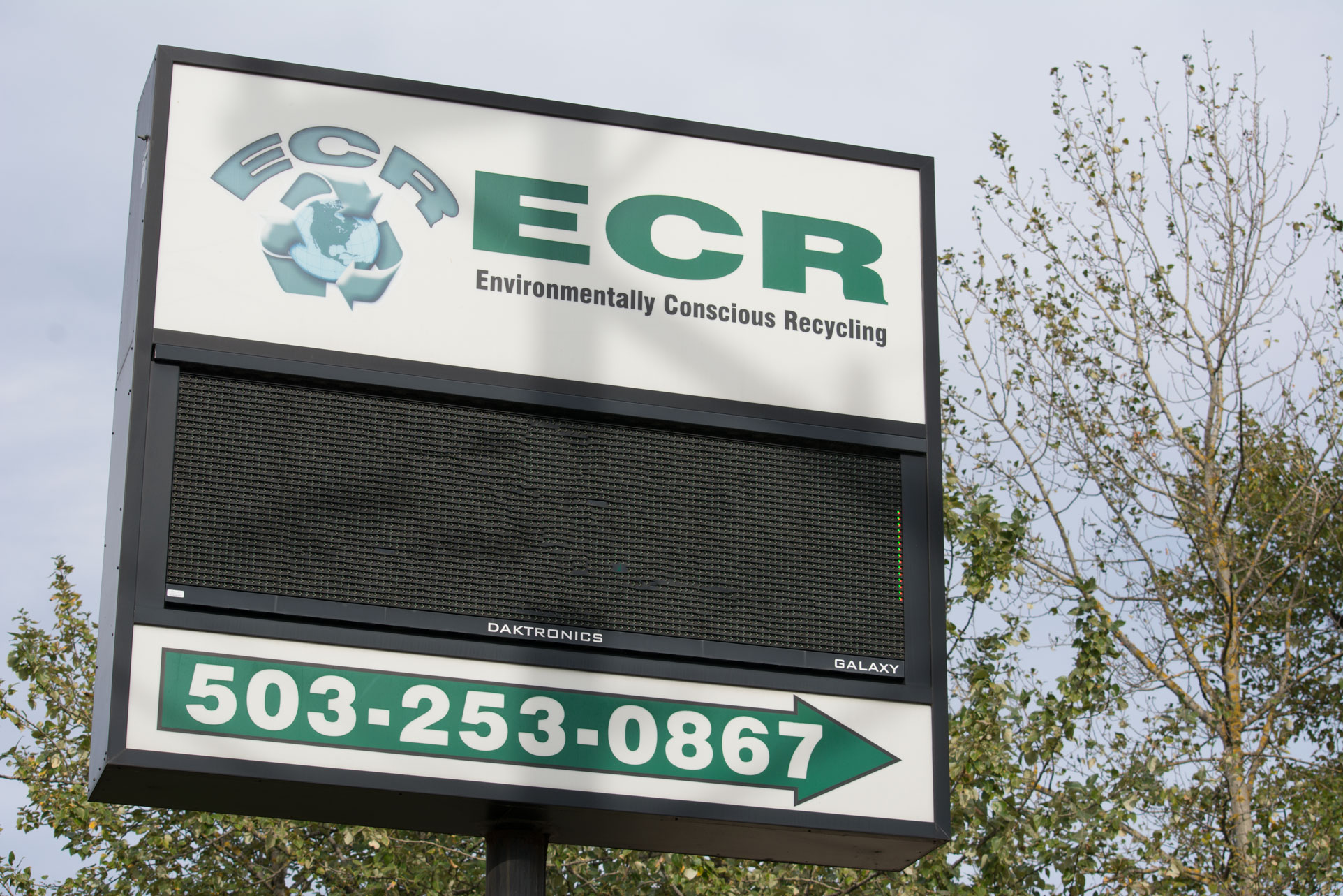 ECR Recycling Sign - Portland, Oregon